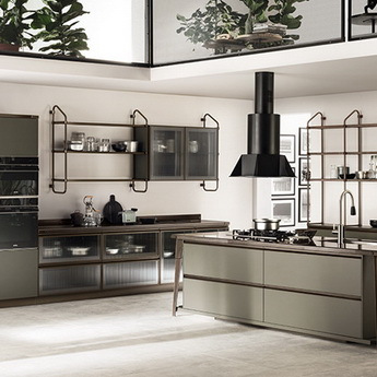 Кухня Diesel Open Workshop Mineral Green, Scavolini