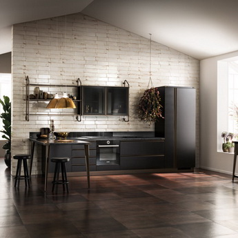 Кухня Diesel Open Workshop Total Black, Scavolini